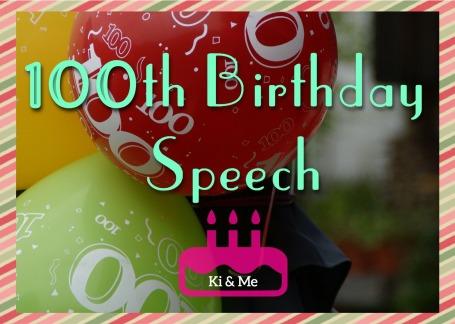 100th Birthday Speech Balloons